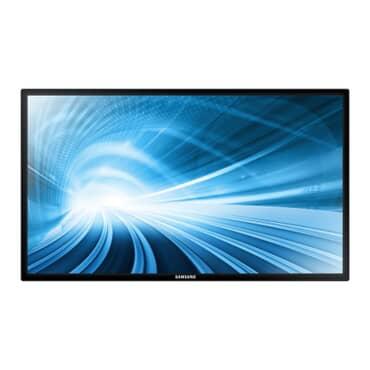 Monitor DB32E Profissional LFD Samsung Smart Signage LH32DBEPLGV/ZD D-LED BLU 32' polegadas Full HD, Borda lados 10.5 mm x 15 mm embaixo, brilho 350 Nits, contraste 5000 1,Pivot, VGA, uso 16 horas, 7 dias , D-SUB Analógico, DVI-D, HDMI1 Stereo Mini Jac