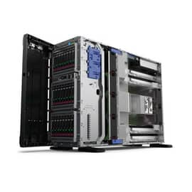 """Servidor HPE ML350 ProLiant 1x proc Gen10 Xeon-Bronze 3104 até 2, 877625-B21_B Torre ou rack 4u, sem GPU suporta até 4, 16gb ram até 3 TB, 1porta ILO 1gb, sem discos baia para 4, até 24 hd x 2,5"""",4x rj45 1gb, PCI-E 4 opc até 8,6 USB, ONSITE 3ANOS"""